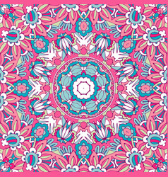 vintage fantastic flower ethnic ornament for scarf vector image