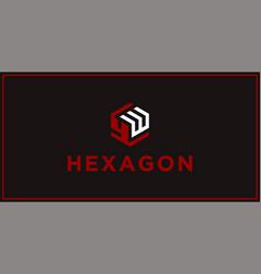 Yw hexagon logo design inspiration vector