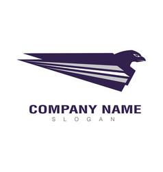 blue eagle design vector image vector image