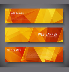 template banners with abstract polygonal vector image vector image