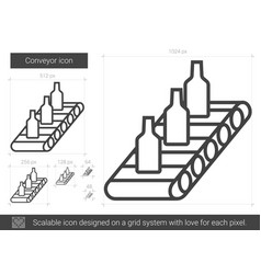 conveyor line icon vector image