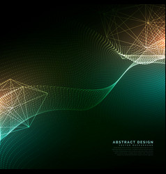 digital particles flowing background in cyber vector image vector image