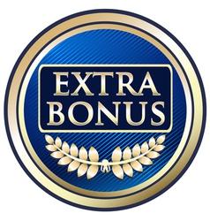 Extra Bonus Blue Label vector image vector image