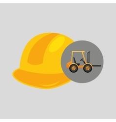 Forklift truck construction helmet icon graphic vector