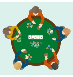 Poker game people vector image
