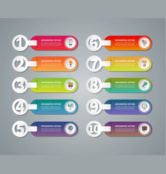 Set of infographic numbered banners vector image