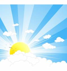 sunny sky background vector image vector image