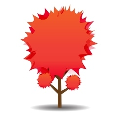 A stylized drawing of a red maple Autumn vector image