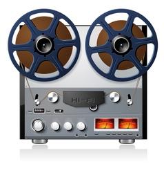 analog stereo reel to reel tape deck vector image