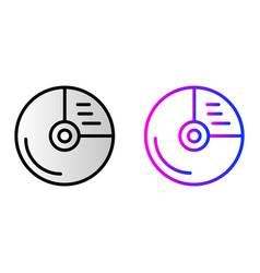 cd drive icon vector image