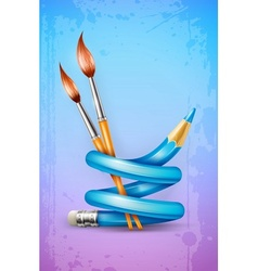 Creative art concept with vector image vector image