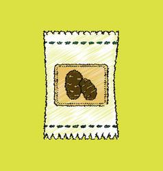 flat shading style icon potato seeds vector image vector image