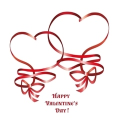heart ribbon bow vector image
