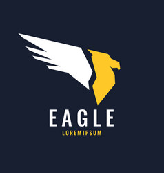 modern logo of an eagle isolated in a flat style vector image