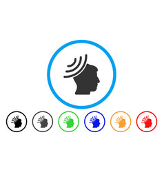 radio reception mind rounded icon vector image vector image