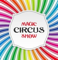 Magic Circus Show poster vector image
