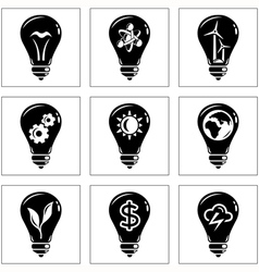 Set of energy concepts vector image