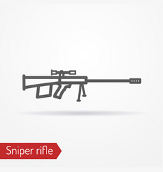 Sniper rifle silhouette icon vector