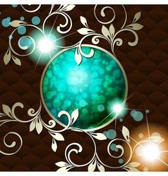vintage emblem in dark green vector image vector image