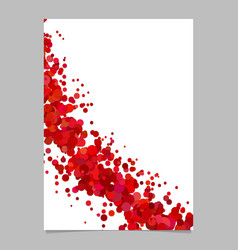 Abstract blank curved confetti flyer background vector