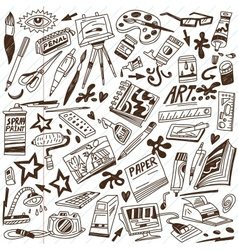 Art tools - doodles vector