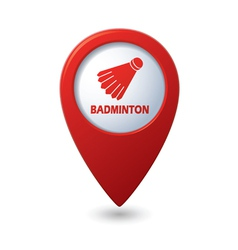 Badminton RED pointer vector