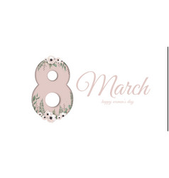 banner for the international women s day greeting vector image