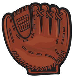 baseball glove vector image