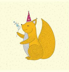 birthday with cartoon cute vector image