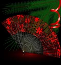 black festive fan vector image vector image