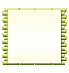 Border template with green bamboo vector