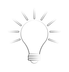 bulb hanging isolated vector image