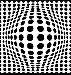 Bulging dots background vector