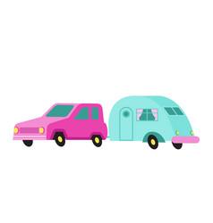 caravan flat icon vector image