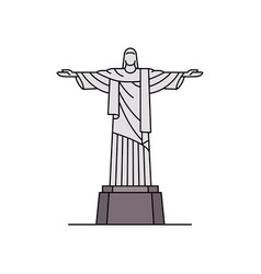 Christ the redeemer icon vector