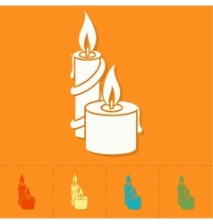 Christmas Candles Colorful vector
