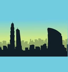 collection of dubai city building landscape vector image