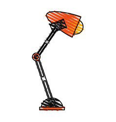 color crayon stripe image cartoon desk lamp with vector image