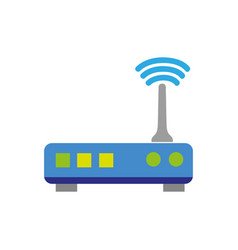 Colorful router digital wifi technology network vector