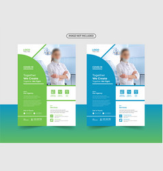 Corporate healthcare and medical a4 flyer design vector