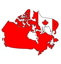 Coyote Canada vector image