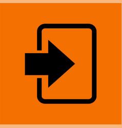 Enter icon vector
