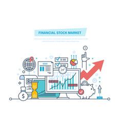 financial stock market capital markets trading vector image