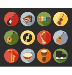 Flat Musical Icons vector image