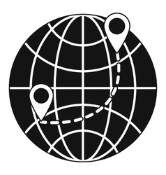 Globe icon simple style vector