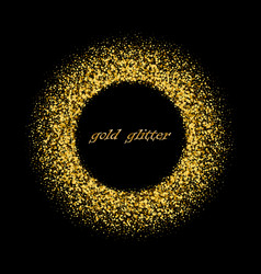 gold background with circle frame glitter vector image