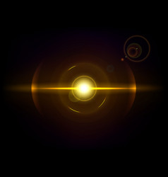 Gold space explosion cosmos burst vector