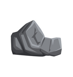 Gray stone with lights and shadows solid mountain vector