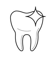 Healthy clean tooth icon vector