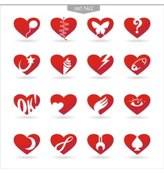 Heart icons set2 vector